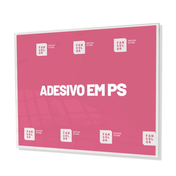 Adesivo Impressão Digital aplicado em PS