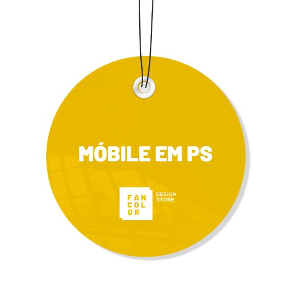 Móbile em PS Impressão UV 4x4 Cores