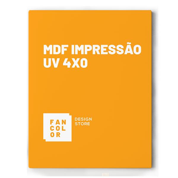 MDF Impressão UV 4x0 Cores