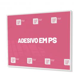 Adesivo Impressão Digital aplicado em PS 4x0 Cores
