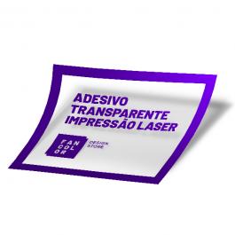 Adesivo Transparente  Alto Desempenho Impressão Laser Vinil Transparente  Alto Desempenho 33x48cm mídia 4x0 cores