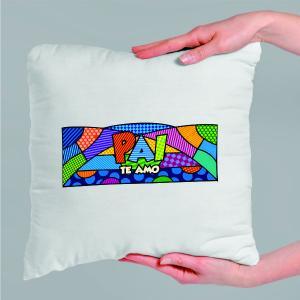Almofada Personalizada  - Pai te Amo Tecido microfibra 100% poliéster 40x40 cm    com enchimento