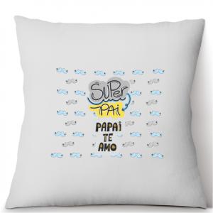 Almofada Personalizada  - Super Pai - Te amo Tecido microfibra 100% poliéster 40x40 cm    com enchimento
