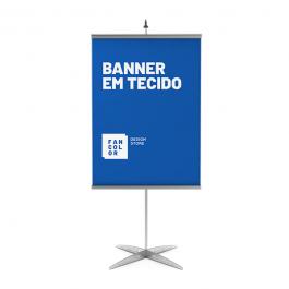 Banner em Tecido Tecido Oxford  4x0  Perfil Aluminio e Fio Nylon