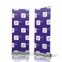 Banner Roll Up Lona 440g  4x0 Fosca Roll Up, Fita Dupla face