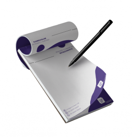 Bloco Receituário - Digital 4x0 cores Offset 90g 15x21cm 4x0  Corte Reto, Blocagem 50 folhas