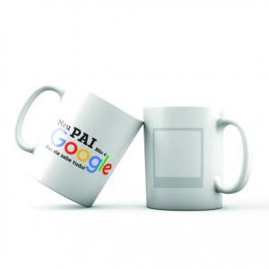 Caneca Meu não é o Google mas ele sabe tudo! Porcelana 8 x 9,5 cm