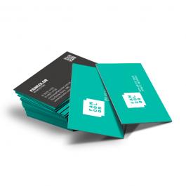 Cartão de visita Digital 4x4 cores Papel Couchê 9x5cm 4x4 cores  Corte Reto Plastificação