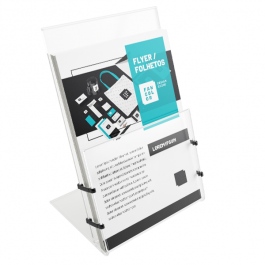 Flyers / Folhetos  - Digital 4x0 cores Papel Couchê 170g 15x21cm 4x0  Corte Reto