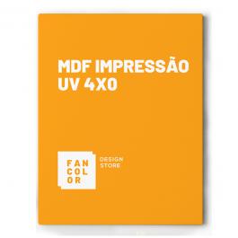 MDF Impressão UV 4x0 Cores MDF  4x 1 cor - calço Branco Localizado ou Total. Melamina ou Cru Sem acabamento * Formato máximo sem emenda na chapa 250cm x 130cm