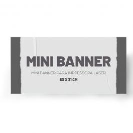 Mini Banner Papel Cartão
